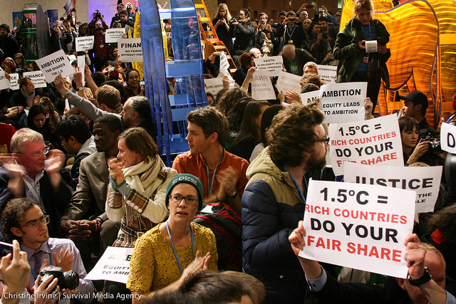 Protest at COP21